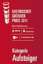 BayPack Bayerischer Gründerpreis 2011 - Kategorie Aufsteiger